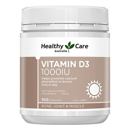 Healthy Care Vitamin D3 1000IU Limited Edition 500 Capsules