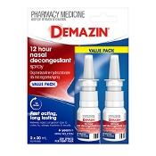 Demazin 12 Hour Relief Nasal Decongestant Spray Value Pack 2 x 20ml