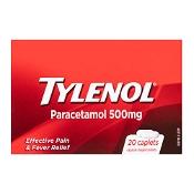 Tylenol Paracetamol 500mg 20 Caplets