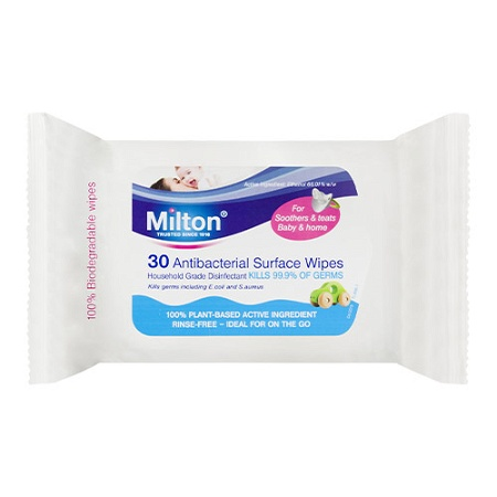 Milton Antibacterial Surface Wipes 30 Pack