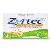 Zyrtec Rapid Acting Hayfever Relief 42 Liquid Capsules