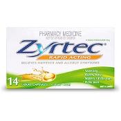 Zyrtec Rapid Acting Hayfever Relief 14 Liquid Capsules