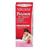 Tylenol For Babies 1 Month - 2 Years Strawberry 200ml