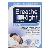 Breathe Right Nasal Strips Clear Large 30 Pack