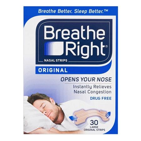 Breathe Right Nasal Strips Original Large 30 Pack