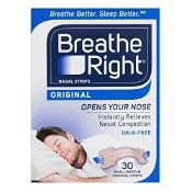 Breathe Right Tan Nasal Strips Original Small/Medium 30 Pack