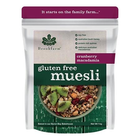 Brookfarm Gluten Free Muesli with Macadamia & Cranberry 1kg