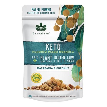 Brookfarm Keto Premium Paleo Granola with Macadamia & Coconut 330g