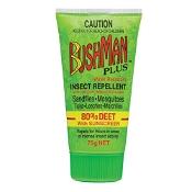 Bushman Plus 80% Deet with Sunscreen Insect Repellent Gel 75g