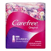 Carefree Original Shower Fresh Liners 30 Pack