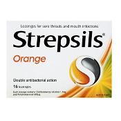 Strepsils Lozenges Orange 16 Pack