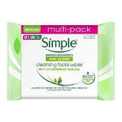 Simple Kind to Skin Cleansing Facial Wipes 2 x 25 Wipes