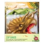 BPA Free Reusable Zip Bag Dinosaurs 8 Pack