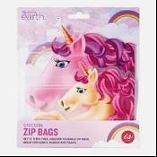 BPA Free Reusable Zip Bag Unicorns 8 Pack