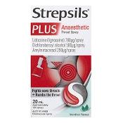 Strepsils Plus Anaesthetic Throat Spray Menthol Flavour 20ml
