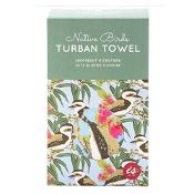 Turban Hair Towel Assorted Birds Designs (Colour selected at random)