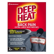 Deep Heat Patches Back XL 2 Pack