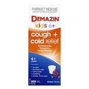 Demazin Cough & Cold Relief Syrup 6 Years to Adult 200ml