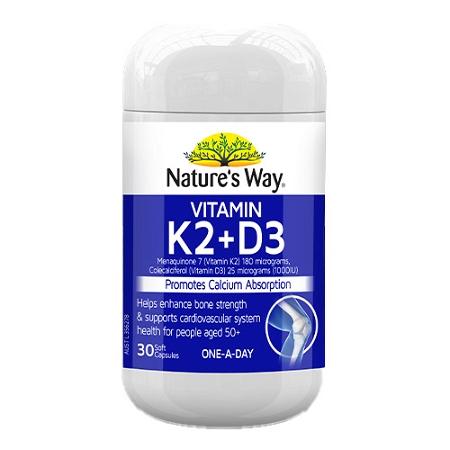 Natures Way Vitamin K2+D3 30 Capsules