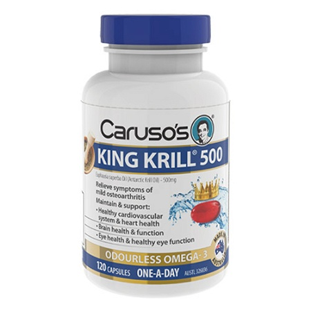 Carusos King Krill 500mg 120 Capsules