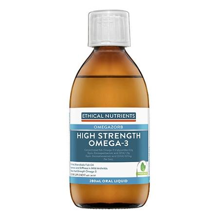 Ethical Nutrients OMEGAZORB Hi-Strength Omega-3 Oral Liquid Fresh Mint 280ml