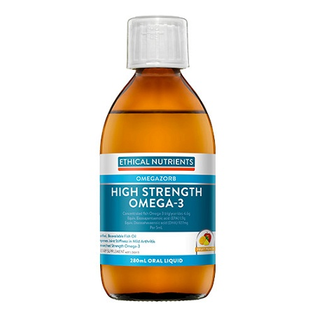 Ethical Nutrients OMEGAZORB Hi-Strength Omega-3 Oral Liquid Fruit Punch 280ml