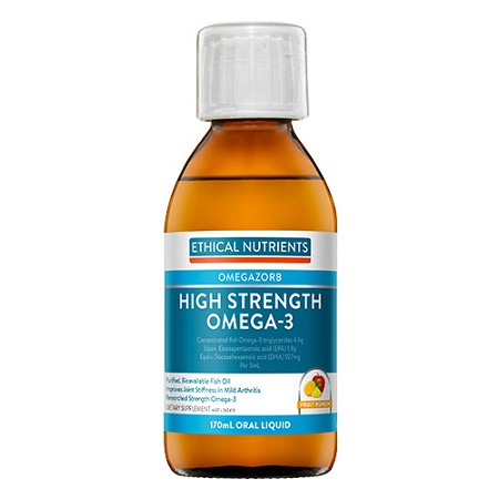 Ethical Nutrients OMEGAZORB Hi-Strength Omega-3 Oral Liquid Fruit Punch 170ml