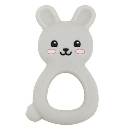 Jellystone Designs Jellies Bunny Baby Teether Grey