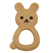 Jellystone Designs Jellies Bunny Baby Teether Tan