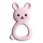 Jellystone Designs Jellies Bunny Baby Teether Pink