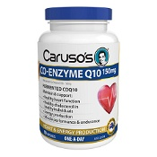 Carusos Co-Enzyme Q10 150mg 90 Capsules