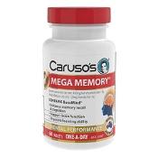 Carusos Mega Memory 60 Tablets