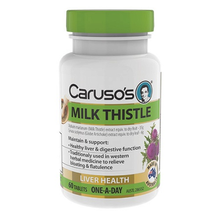 Carusos Milk Thistle 35000mg 60 Tablets