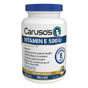 Carusos Vitamin E 500IU 150 Capsules