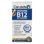 Carusos Vitamin B12 Activated Quick Melt 60 Tablets