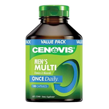 Cenovis Once Daily Mens Multi Vitamin 100 Capsules