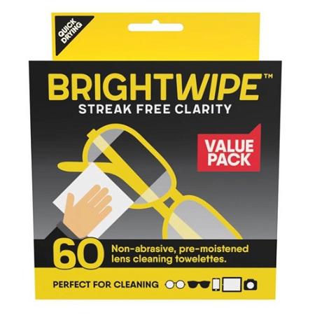 Bright Wipe Lens Wipe 60 Pack
