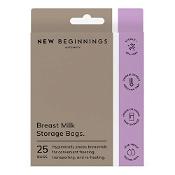 New Beginnings Breast Milk Storage Bags 25 Pack