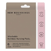 New Beginnings Washable Bamboo Breast Pads 6 Pack