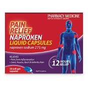 Pain Relief Naproxen 30 Liquid Capsules by Deep Heat