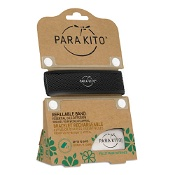 Parakito Mosquito Repellent Adult Wristband Black