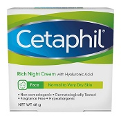Cetaphil Face Rich Hydrating Night Cream with Hyaluronic Acid 48g