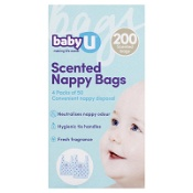 Baby U Scented Nappy Bags 200 Pack