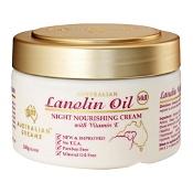 Australian Creams Lanolin Oil Night Nourishing Cream with Vitamin E 250g