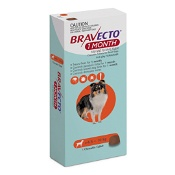 Bravecto 1 Month for Small Dogs Orange 4.5kg-10kg 1 Chewable Tablet