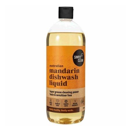 Simply Clean Australian Mandarin Dishwash Liquid 1L