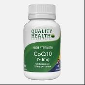 Quality Health High Strength CoQ10 150mg 100 Capsules