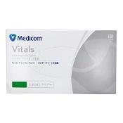 Medicom Vinyl Gloves Powder Free Large 100 Pack (Branding may differ depending on availability)
