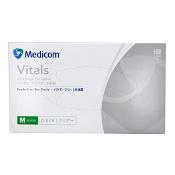 Medicom Vinyl Gloves Powder Free Medium 100 Pack (Branding may differ depending on availability)