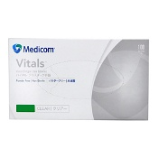 Medicom Vinyl Gloves Powder Free Small 100 Pack (Branding may differ depending on availability)